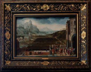 """Henri Bles, """"Paysage avec David et Bethsabée"""", 1535-1540 : des jardins, toujours et encore des jardins !"""