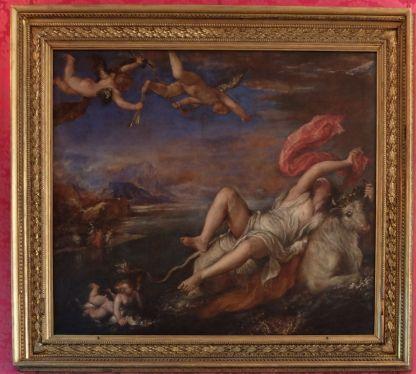 """Titien, """"Europe"""", 1560-62 : oui, oui, un Titien, juste là dans le coin à gauche..."""