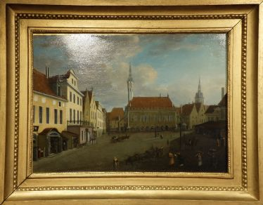 """Theodor Gehlhaar, """"Town Hall Square"""", 1827. La place n'a finalement pas beaucoup changé !"""