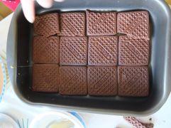 Une couche de biscuits...