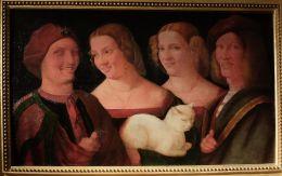 """Nicolo Frangipani, """"Quatre têtes riant et un chat"""", seconde moitié du XVIe siècle : je trouve ce tableau particulièrement effrayant."""