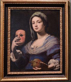 """Lorenzo Lippi, """"L'Allégorie de la Simulation"""", 1650. Il s'agit d'un des """"joyaux"""" du musée. Il y a tant à dire dessus ! J'avais adoré le donner en commentaire d'oeuvres à mes étudiants... En plus, comme Mona Lisa, elle donne l'impression de vous suivre du regard où que vous alliez."""