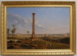 """Lancelot-Théodore Turpin de Crissé (fils), """"Alexandrie, vue de la ville et de la colonne de Pompéi"""", 1800. Orientalisme, orientalisme. Chose amusante : Turpin de Crissé n'est jamais allé en Egypte... Orientalisme, disais-je ?"""