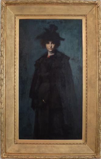 """Jean-Jacques Henner, """"Portrait de Mlle Laura Leroux"""", 1898. Pas très bien mis en valeur, ce portrait rend beaucoup mieux une fois pris en photo. Laura Leroux ressemble à un véritable personnage de roman ! Un peu comme tous les portraits réalisés par Henner en fait..."""