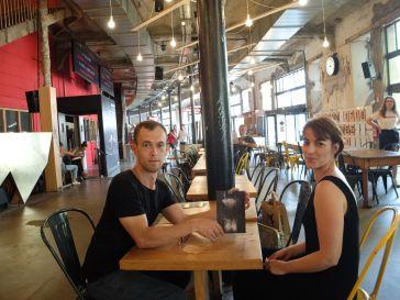 Avec Jérémy et Florence, une amie qui est venue se balader dans Nantes avec nous.