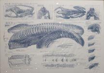"""""""Zeichnungen für Alien 3"""", 1990."""