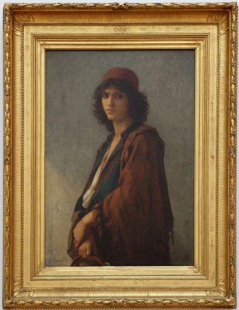 """Charles-Zacharie Landelle, """"Jeune bohémien serbe"""", 1872. J'aime beaucoup les traits féminins."""