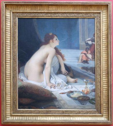 """Jean-Jules-Antoine Lecomte du Nouÿ, """"L'Esclave blanche"""", 1888. Un tableau orientaliste très connu et que j'ai beaucoup étudié pendant mes études d'histoire de l'art."""