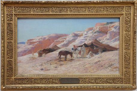 """Eugène Girardet, """"Le Campement"""", 1880. C'est d'abord le cadre qui a attiré mon regard..."""