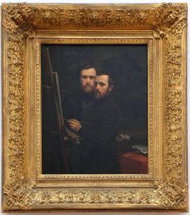 """Paul-Jean et Hippolyte Flandrin, """"Double autoportrait"""", 1842. Les deux frères ont peint chacun leur autportrait sur ce tableau. C'est assez troublant car les différentes positions donnent l'impression de dévoiler deux aspects de la personnalité d'une même personne. J'ai été d'autant plus touchée par cette oeuvre qu'elle m'a rappelé un jeu vidéo que je venais de terminer, The Lion's Song."""