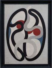 """Auguste Herbin, """"Composition"""", 1932. J'ai été attirée par cette oeuvre, car elle me fait penser aux sérigraphies de Susan Point que mon amie Lola étudiait dans le cadre de son mémoire de master."""