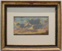 """Claude Monet, """"Soleil Couchant"""", 1865. Le """"genre de Monet"""" dont je n'ai pas vraiment l'habitude... et je suis sûre que le musée recèle d'autres petites trouvailles comme celle-ci."""