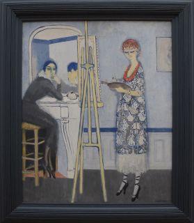 """Kees Van Dongen, """"Passe-temps honnête"""", 1920. Le titre de cette oeuvre propose une mise en abîme vraiment amusante. J'ai possédé une carte postale de ce tableau pendant un long moment sur ma coiffeuse."""
