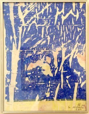 """François Dufrêne, """"Le Dé-Klein, 6 bis"""", 1979. L'artiste se considérant lui-même comme un """"anarchiste discipliné"""", je trouve à cette oeuvre un certain comique."""