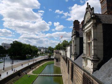 Depuis les remparts du Château des Ducs de Bretagne.