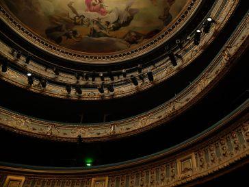 Le théâtre Graslin et ses fauteuils bleus (qu'on ne voit pas vraiment...)