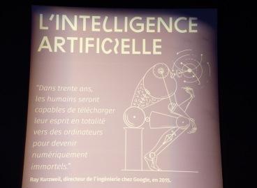 C'est chouette de retrouver Ray Kurzweil ici ! Cette partie dédiée à l'intelligence artificielle est d'ailleurs particulièrement exaltante ! Que de progrès ! Je suis de ces personnes qui voudrait bien vivre assez longtemps pour vivre une cohabitation harmonieuse avec des robots.
