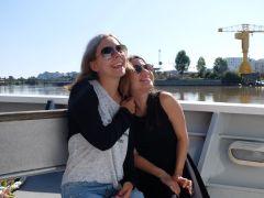 Sur le bateau en direction de Trentemoult...
