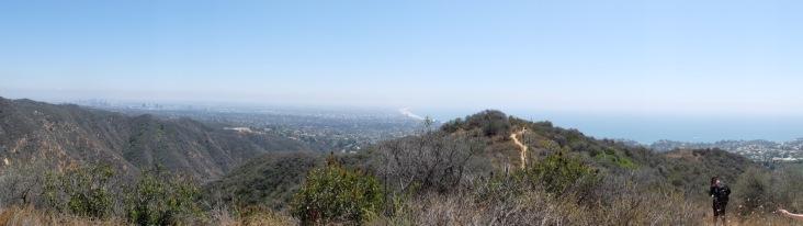 Vue panoramique avec Santa Monica au fond