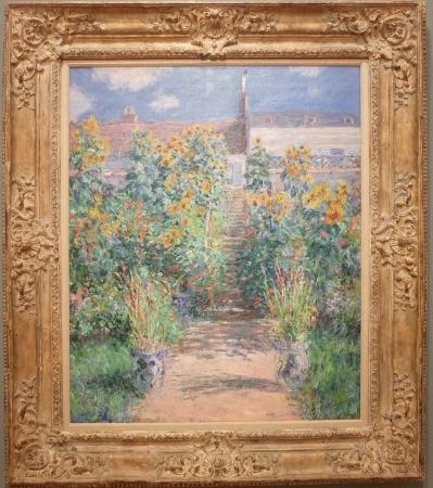 """Claude Monet, """"The Artist's Garden at Vétheuil"""", 1881. Un jardin, mais pas celui de Giverny. Cela change un peu !"""