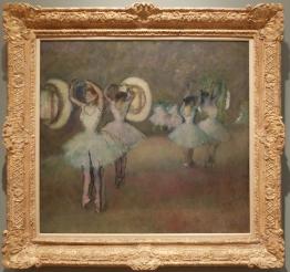 """Edgar Degas, """"Dancers in the Rotunda at the Paris Opera"""", 1875-1894. Il y aurait tant à dire sur les tableaux apparemment inoffensifs de Degas..."""