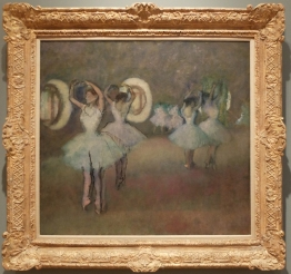 "Edgar Degas, ""Dancers in the Rotunda at the Paris Opera"", 1875-1894. Il y aurait tant à dire sur les tableaux apparemment inoffensifs de Degas..."