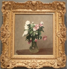 "Ignace-Henri-Jean-Théodore Fantin-Latour, ""White and Pink Mallows in a Vase"", 1895."