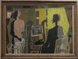 """Georges Braque, """"Artist and Model"""", 1939. J'ai choisi de travailler sur ce tableau tout le semestre, et dix pages de rédaction plus tard, ça va, je l'apprécie toujours."""