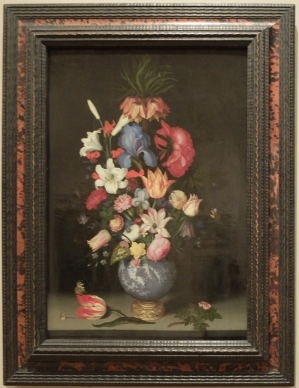 "Entourage de Ambrosius Bosschaert the Elder, ""Large Bouquet in Gilt-Mounted Wan-Li Vase"", 1620."