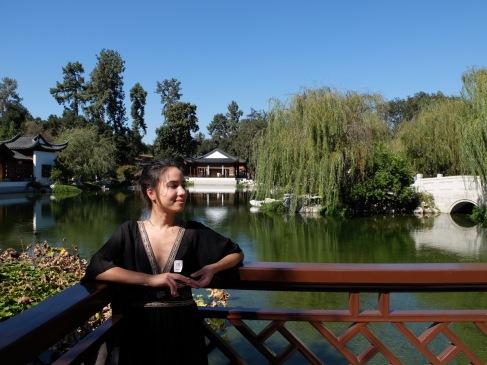Prendre la pose dans le jardin chinois