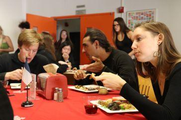 Max, Mouhcine et Greta, encore une étudiante d'un de mes cours ce semestre.