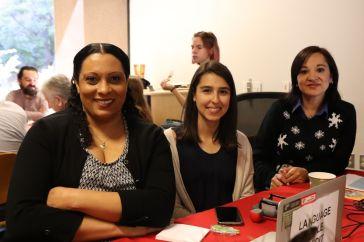 Tammi, Tamara et Martha, trois membres du personnel d'Oldenborg.