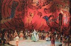 """""""The Magic Flute"""", Metropolitan Opera, 1967 : en vrai, grandeur nature, ce doit être une véritable explosion de couleurs pour les yeux !"""