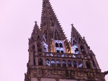 Le haut de la cathédrale