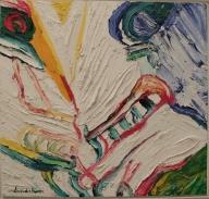 """Bengt Lindström, """"Le Baiser"""", 1988 : surtout remarquable pour sa texture tout en relief"""