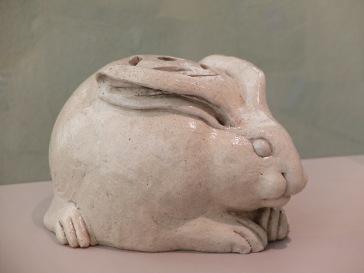 """Eiraku Hozen, """"Hand-Warmer in the Form of a Rabbit"""", 1840."""