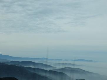 Paysage brumeux sur le chemin du retour (2)