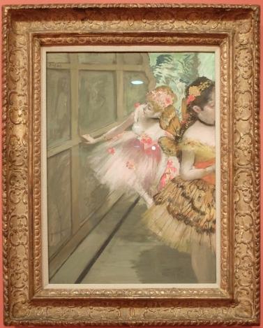 """Edgar Degas, """"Dancers in the Wings"""", 1876-1878. Avec le cadrage si caractéristique de Degas."""