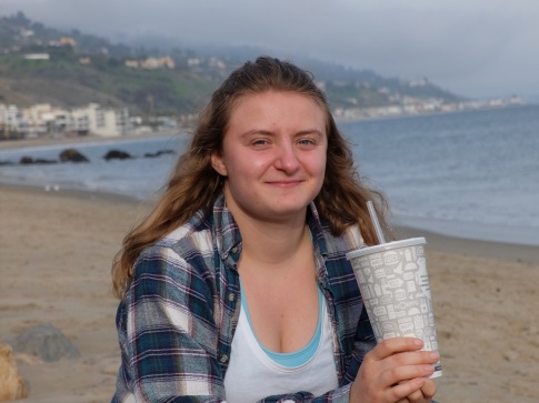 Callie à la plage