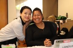 Julie et Ilsa (qui vient temporairement nous aider à Oldenborg)