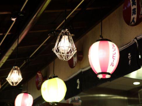 Les lanternes avec lesquelles je m'entraîne à la lecture.