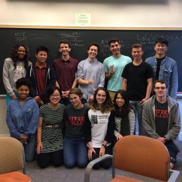 Classe de japonais, semestre 2, avec Takahashi-sensei