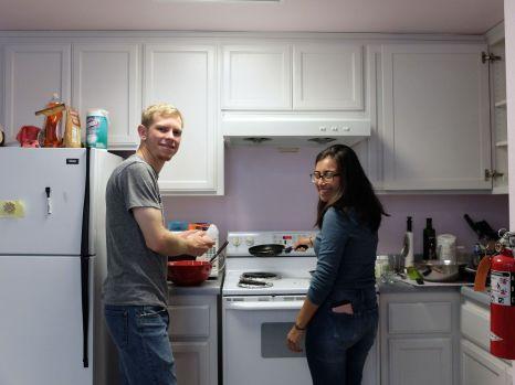Isaac et Cynthia, chez José.