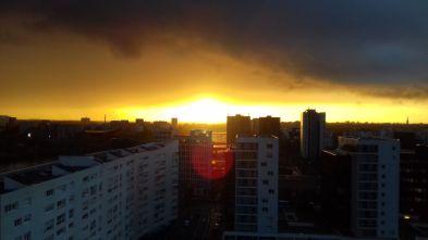 Un ciel flamboyant