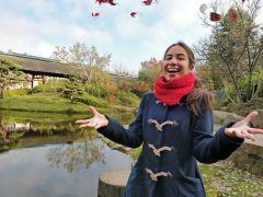 Sur l'Île de Versailles, avec les feuilles d'érable (2)