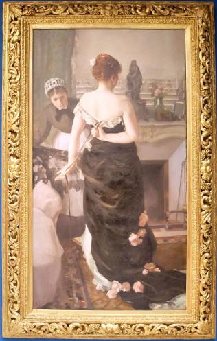 """Alfred Roll, """"Après le bal"""", 1886. J'ai une carte postale de cette oeuvre qui orne ma coiffeuse depuis plusieurs années déjà."""