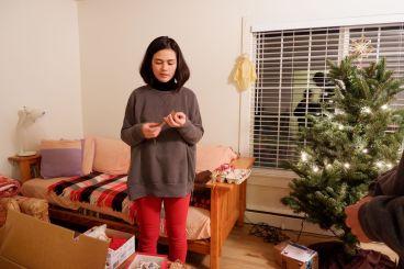 Michelle, grande soeur d'Isaiah, de retour de New York pour les fêtes