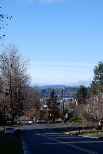 Et au lointain, les montagnes promettent des randonnées dans de jolis coins de nature