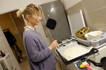 Justine, pro de la gravure sur galette