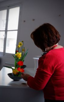 Intervention de la maîtresse des fleurs